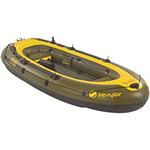 Sevylor fish hunter inflatable 4 person boat for Blow up fishing boat