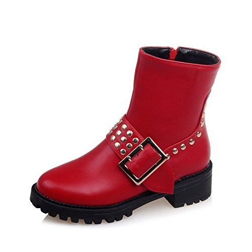 allhqfashion-womens-low-top-solid-zipper-round-closed-toe-low-heels-boots-red-34