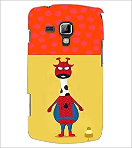 PrintDhaba Funny Image D-3730 Back Case Cover for SAMSUNG GALAXY S DUOS 2 S7582 (Multi-Coloured)