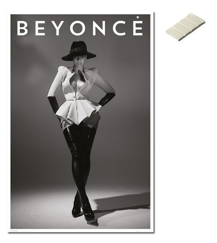 Bundle - 2 Items - Beyonce Posters - 91.5 x 61cms (36 x 24 Inches) and Small Block Of White Tack