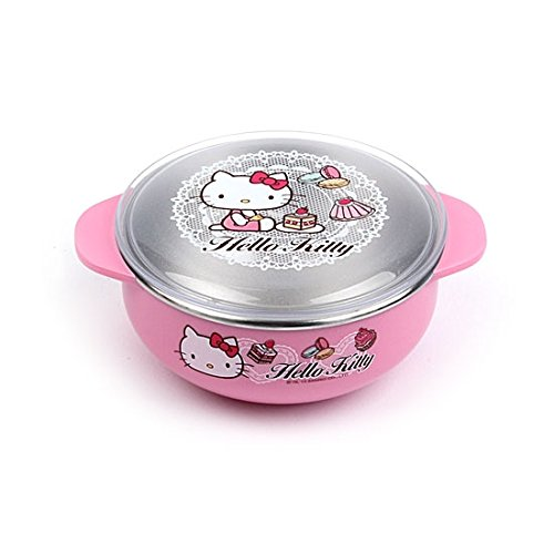 Lock & Lock Hello Kitty Baby Lace children Stainless steel bowl with Lid (small) LKT479