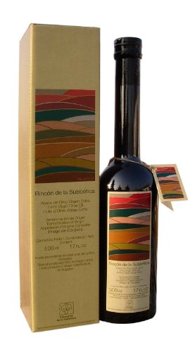 Rincon De La Subbetica- Award Winning, Organic Cold Pressed EVOO Extra Virgin Olive Oil, 2012-2013 Harvest, 17-Ounce Glass Bottle