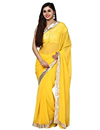Aum Women's Saree With Blouse Piece - B00UHSNYWQ