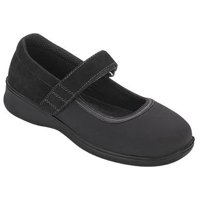 Orthofeet 827 Women's Comfort Diabetic Extra Depth Stretch Shoe: Black 5 Medium (C) Velcro