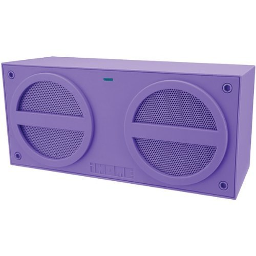 Brand New Ihome Bluetooth Stereo Mini Speaker With Rechargeable Battery (Purple)