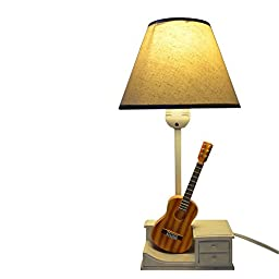 Gift Garden T0075 White Fabric Shade Table Lamp