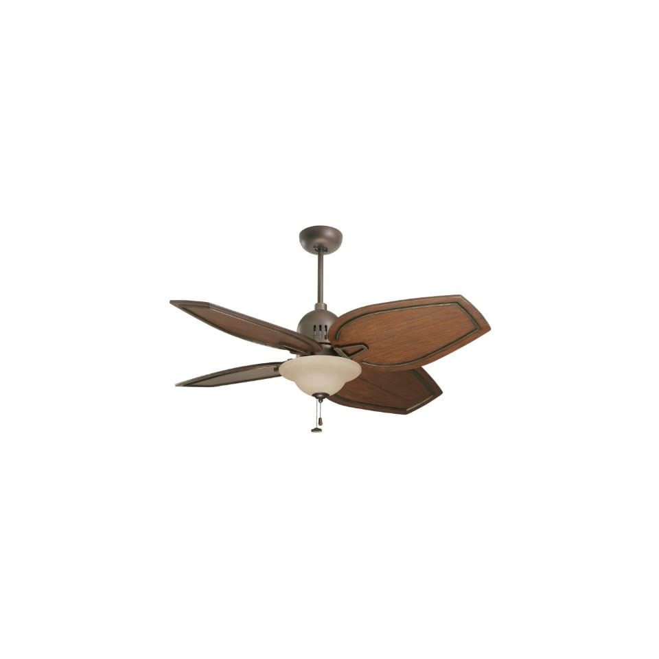 Emerson CF3600ORH Camden Indoor/Outdoor Ceiling Fan, 52 Inch or 44 Inch Blade Span, Oil Rubbed Bronze Finish with Highlights