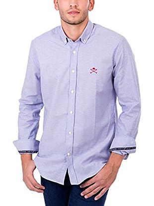 Polo Club Camisa Hombre Academy Cro Oxford (Azul)