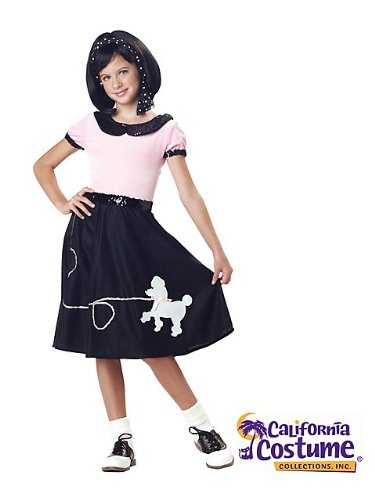 50's Hop with Poodle Skirt Costume - X-Small
