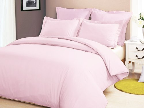 Congo Linen 610 Tc Italian Finish Egyptian Cotton Luxurious Sheet Set 610 Tc Solid ( Queen , Pink )