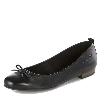 Tamaris Ballerinas ''1-22122-20'' aus Leder in Black 38.0 EU
