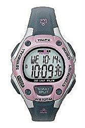 Womens Ironman 30-lap Flix Pink And Grey Indiglo/night-mode Feature Flick Your Wrist Totriggerlgt 100 Hour Chrono-100m W