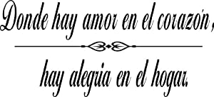 Quotes About Family Love In Spanish : Quote It! - Spanish Where There Is Love Wall Quote, Family Wall Quotes ...