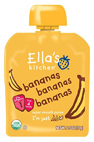 Ella's Kitchen Organic Stage 1, Bananas Bananas Bananas, 2.5 Ounce (Pack of 6)