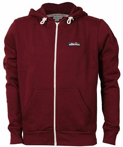 Ellesse Formation Men's Hoodie Hoody Full Zip Track Top Sweatshirt burgundy Small