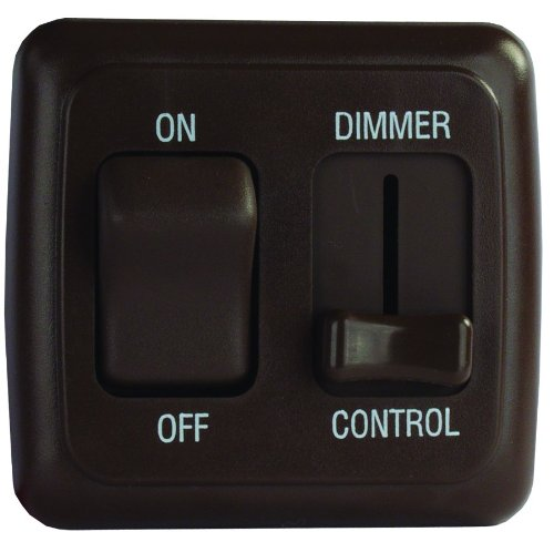 Jr Products 12185 Brown Dimmer On/Off Switch With Bezel