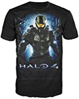 Halo 4 -M- Black Master Chief Logo T-shirt