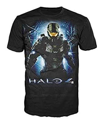 Halo 4 -L- Black Master Chief Logo T-shirt