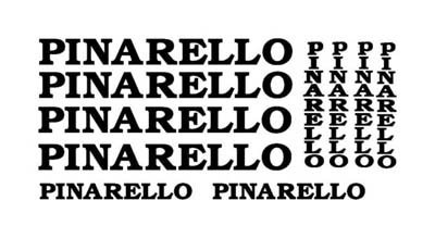 PINARELLO (!0) BIKE FRAME Vinyl Stickers/Decals (Bicycles)