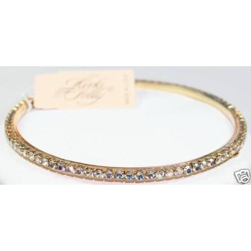 Kirks Folly Sparkling Crystal Bangle Bracelet   Aurora Borealis