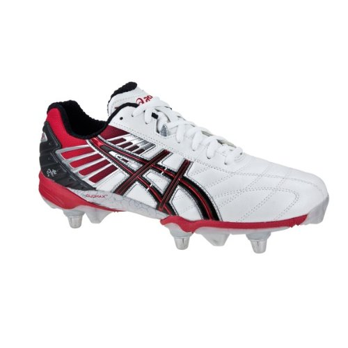 white asics rugby boots