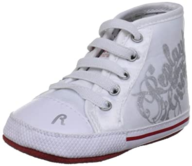 Replay Preston White/Silver Fashion Trainer Gbx03 .452.C0039T.081 1 UK Infant