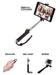 Selfie Stick CellfiePro(TM), Universal monopod for Smartphones Tablets GoPro iPad Mini. Detachable bluetooth remote. iOS Android & Windows compatible. Premium Light Aluminum Compact Durable(Champagne)