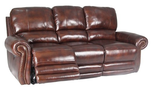 Thor Power Dual Reclining Sofa In Tobacco By Parker Living