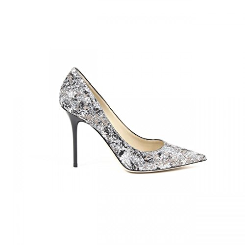 Jimmy Choo Jimmy Choo Womens Pump ABEL PAINT.COA.GLITT SILV. & BAL.PIN ARGENTO