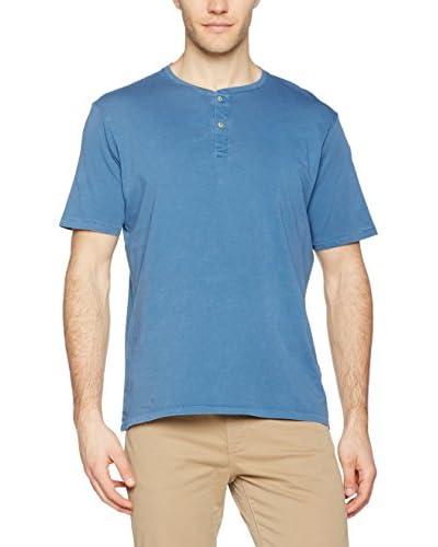 Dockers Camiseta Manga Corta Ss Garment Dye Henley Copen Blue