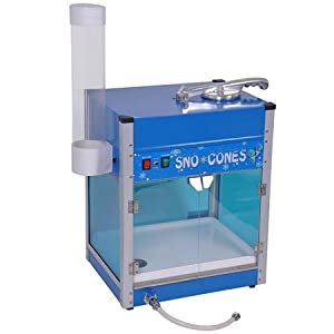 Electric Snow Cone Maker Ice Shaver Machine with Cup Holder