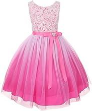 Kids Dream Fuchsia Ombre Rosette Special Occasion Dress Girl 6-14