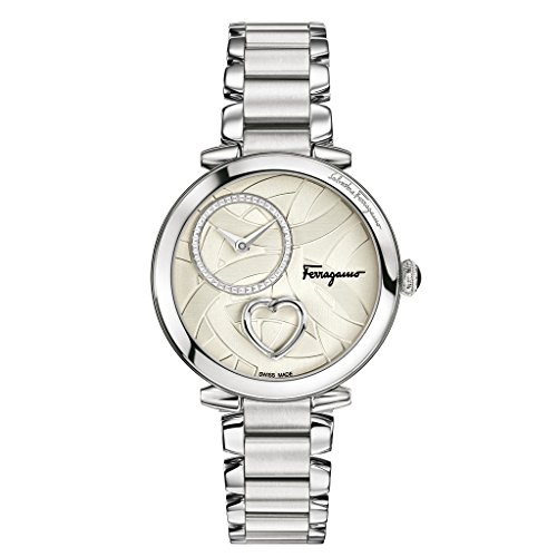 Salvatore-Ferragamo-Womens-Beating-Heart-Swiss-Quartz-Stainless-Steel-Casual-Watch-ColorSilver-Toned-Model-FE2060016