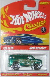 Hot Wheels Classic Series 1: Baja Breaker #15 of 25 1:64 Scale Collectible Die Cast Car with a Special Spectraflame Paint - 1