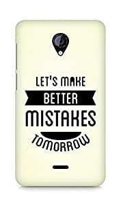 Amez Lets make better Mistakes Tomorrow Back Cover For Micromax Unite 2 A106