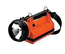 Streamlight 45111 LiteBox Standard System 20-Watt Flood Bulb with 120V AC, 12V DC, Shoulder Strap and Mounting Rack, Orange