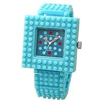 [ナノブロック]nanoblock デコレーション腕時計 デコって遊べるリストウォッチ チェンジベゼル チェンジベルト おまけブロック付 ブルー NAW-3410BR