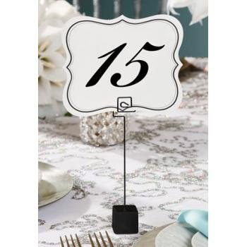 Numbers 1-25 Table Cards Wedding Reception David Tutera Scroll Edge Double Side