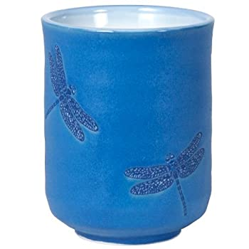 Small Dragonflies Blue Cup