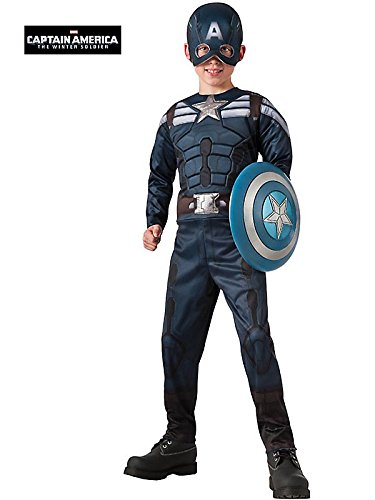 Stealth / Retro Captain America Reversible Kids Costume