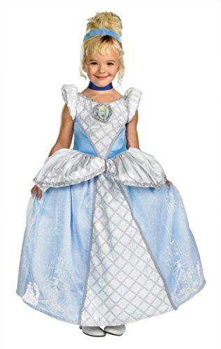 Girls Cinderella Prestige Kids Child Fancy Dress Party Halloween Costume