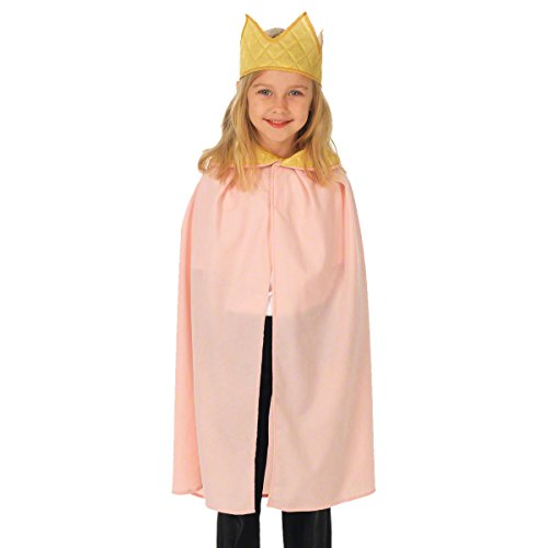 Pink King / Queen Cloak Costume for kids 3-9 Years