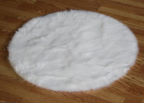 White Faux Fur Area Rug