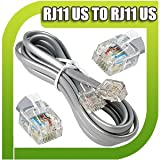 25M High Speed RJ11 to RJ11 BT Broadband Extension Cable Lead For ADSL Modem Router Internet Sky Box 25 M Meter Metre UK