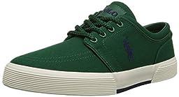 Polo Ralph Lauren Men\'s Faxon Low Fashion Sneaker, New Forest, 9.5 D US