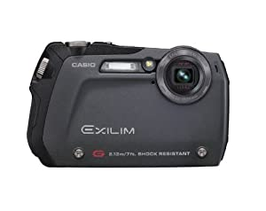 Casio Exilim EX-G1 12.1 MP Slim-line Endurance Digital Camera with 3x Optical Zoom (Black)