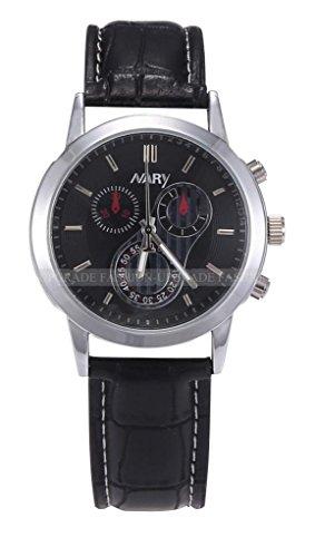 Mens Cool Fashion Casual Quartz Analog Sport Wrist Watch-Black