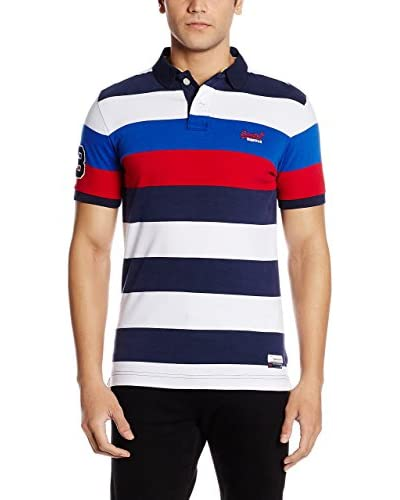 Superdry Poloshirt Duo Hoop Stripe marine/weiß