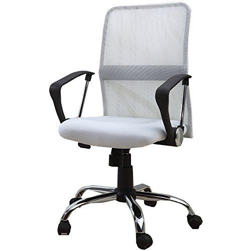 UNE BONNE(ウネボネ) オフィスチェア 椅子 ロッキング メッシュ (椅子) ガス圧昇降式WHITE