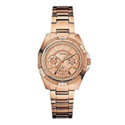 GUESS Mini Phantom Chronograph Gold Dial Womens Watch - W0235L3